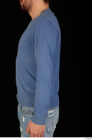 Hamza arm blue sweatshirt dressed upper body 0003.jpg